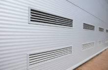 Sekční vrata - ventilační mřížky