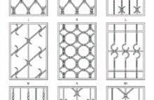 Pevné mříže - vzorník 3