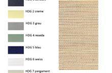 Zatemňovací rolety - vzorník HDG